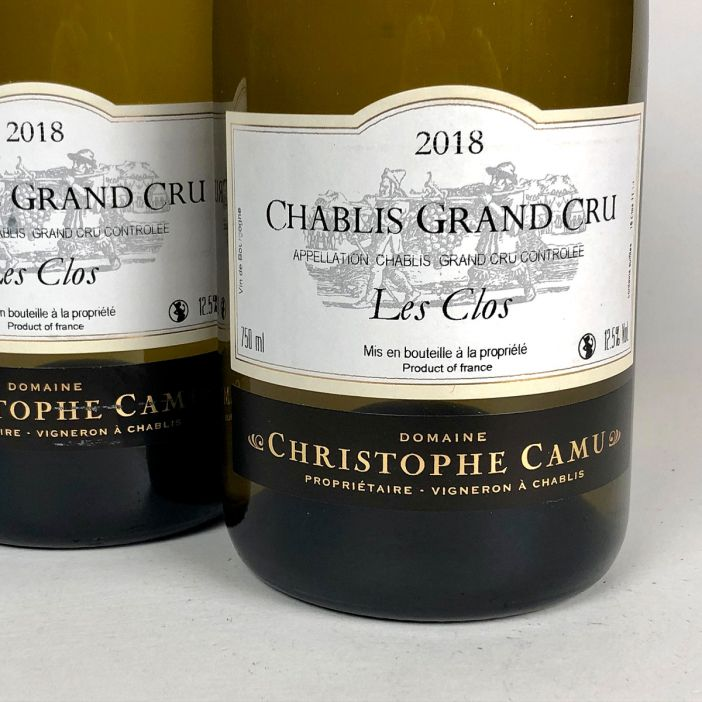 Chablis: Domaine Christophe Camu Grand Cru 'Les Clos' 2018