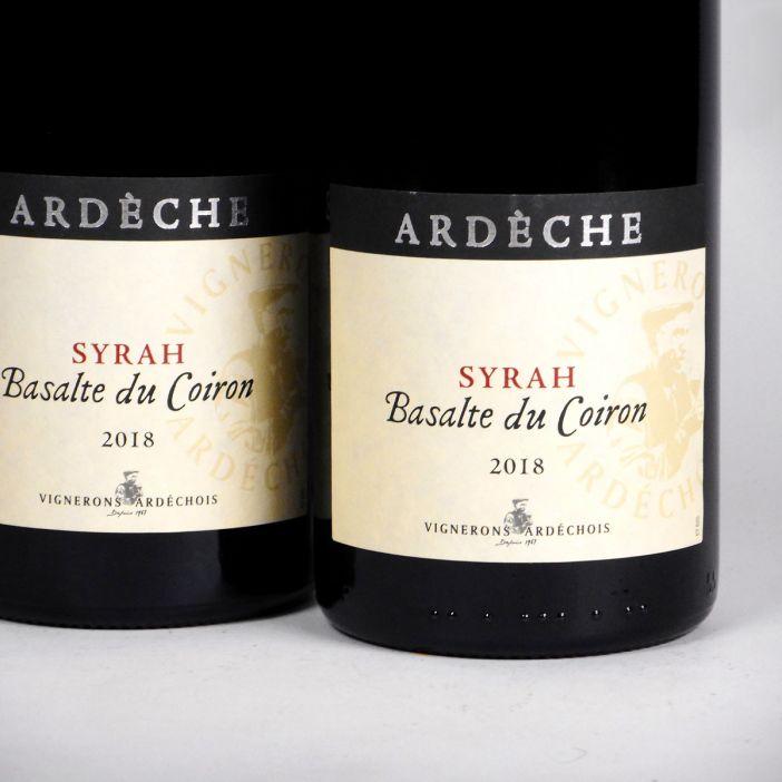 Coteaux de l'Ardèche: 'Basalte du Coiron' Syrah 2018