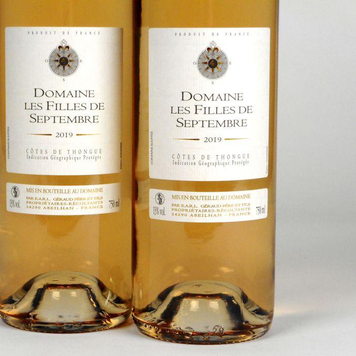 Côtes de Thongue: Domaine Les Filles de Septembre Rosé 2019