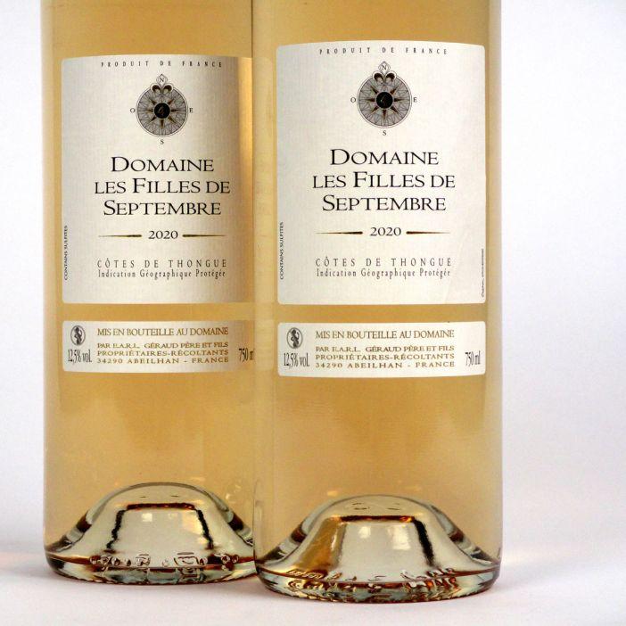 Côtes de Thongue: Domaine Les Filles de Septembre Rosé 2020