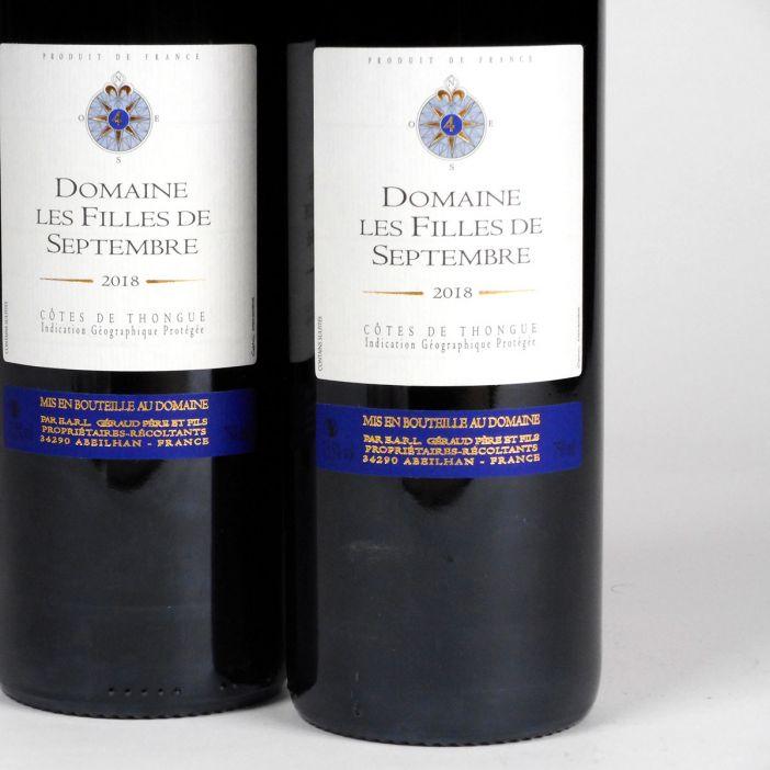 Côtes de Thongue: Domaine Les Filles de Septembre 'Tradition' 2018