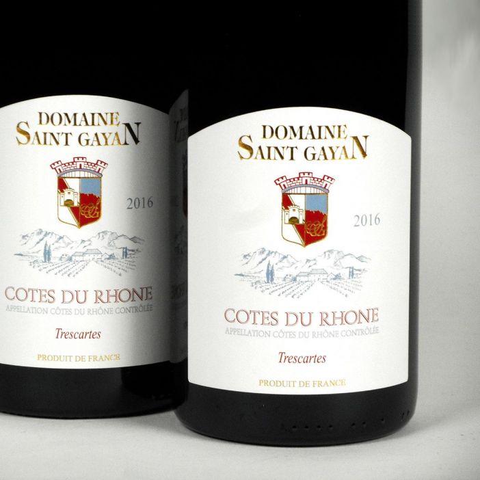 Côtes du Rhône: Domaine Saint Gayan 'Trescartes' 2016