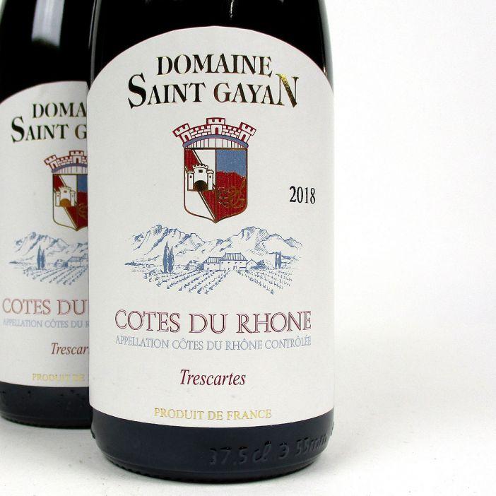 Côtes du Rhône: Domaine Saint Gayan 'Trescartes' 2018