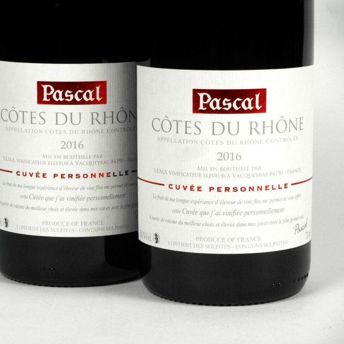Côtes du Rhône: Pascal Frères 'Cuvée Personelle' 2016