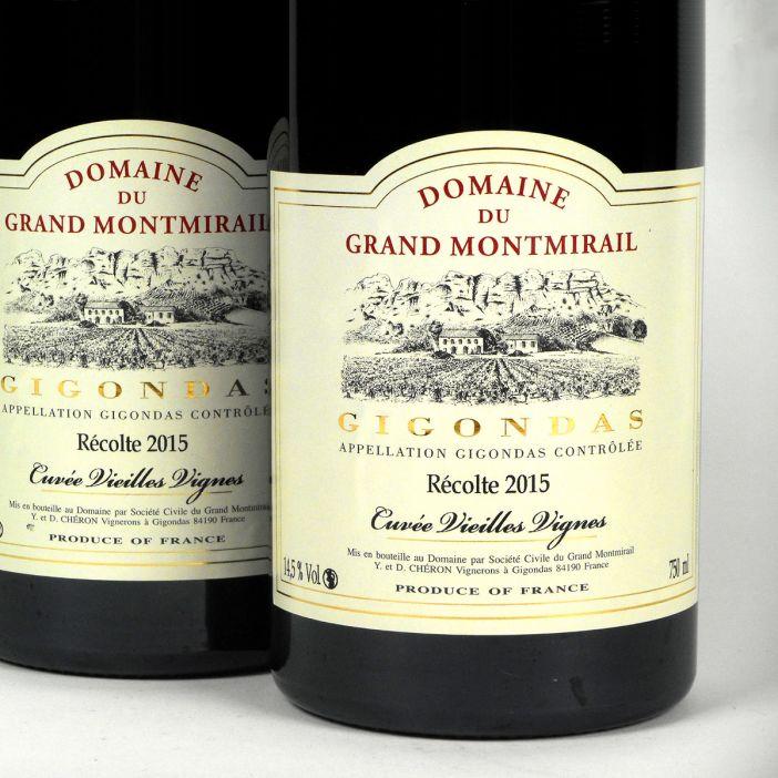 Gigondas: Domaine du Grand Montmirail 'Vieilles Vignes' 2015