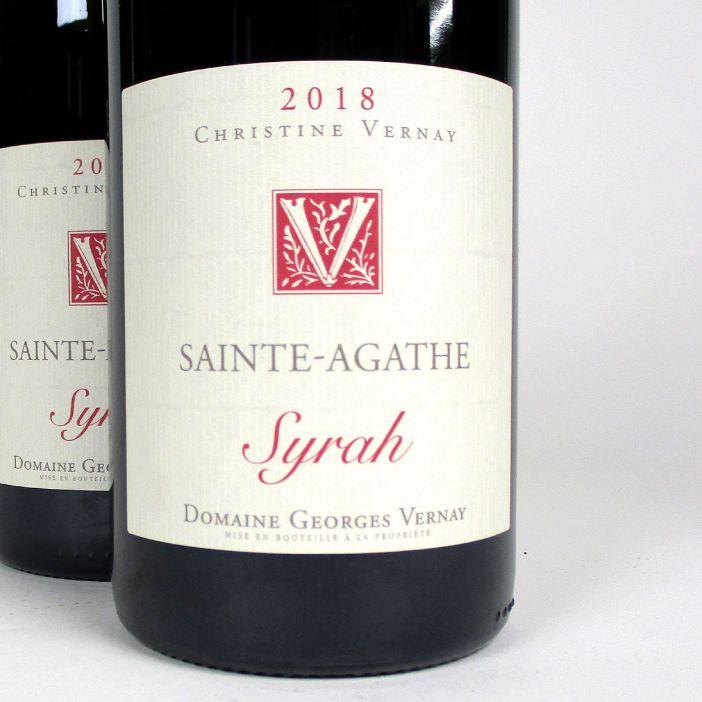 IGP Collines Rhodaniennes: Domaine Georges Vernay 'Sainte-Agathe' 2018