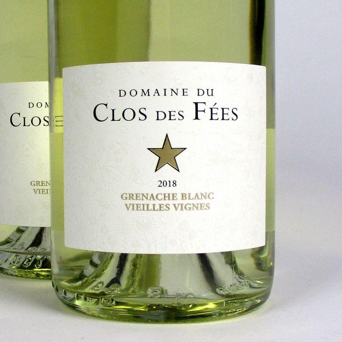 IGP Côtes Catalanes: 'Vieilles Vignes' Domaine du Clos des Fées Grenache Blanc 2018