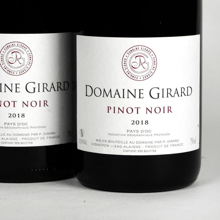 IGP Pays d'Oc: Domaine Girard Pinot Noir 2018