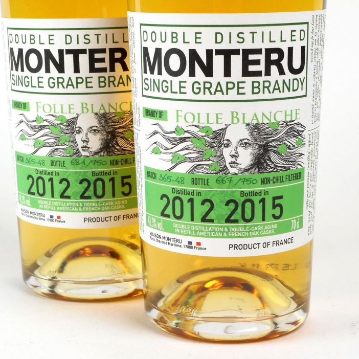 Maison Monteru: Double Distilled Single Grape Brandy - Folle Blanche