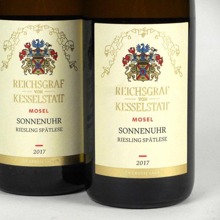 Mosel: Reichsgraf von Kesselstatt Wehlener Sonnenuhr Spätlese 2017