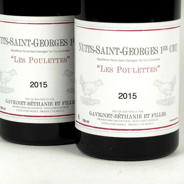Nuits-Saint-Georges: Domaine Gavignet-Béthanie et Filles 1er Cru 'Les Poulettes' Rouge 2015