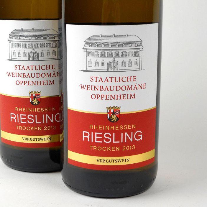 Rheinhessen: Staatliche Weinbaudomäne Oppenheim Riesling 2013