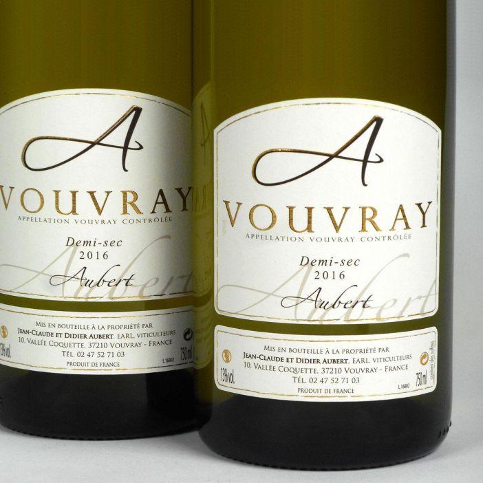 Vouvray: Jean-Claude & Didier Aubert Demi-Sec 2016