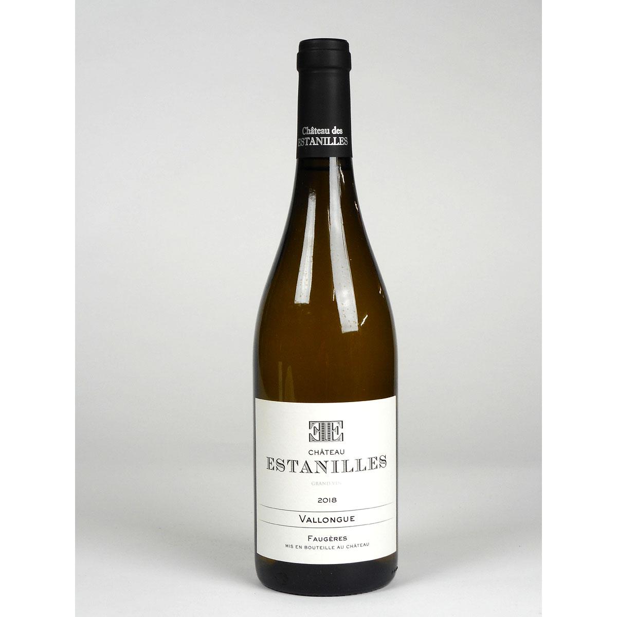 Faugères: Château Estanilles 'Vallongue' Blanc 2018 - Wine Bottle