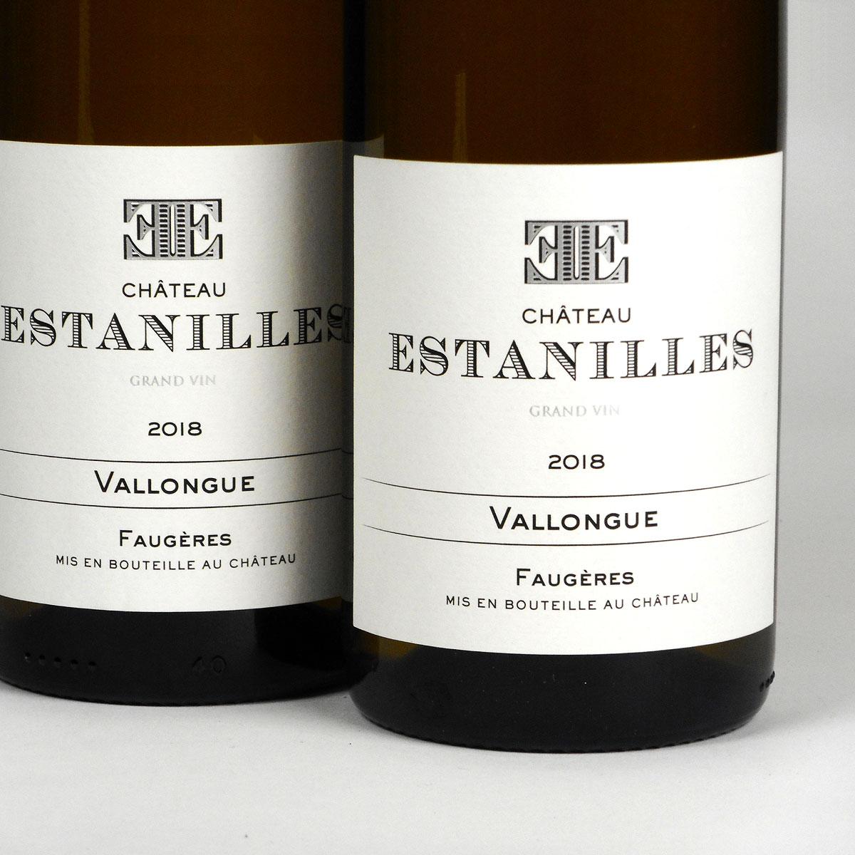 Faugères: Château Estanilles 'Vallongue' Blanc 2018