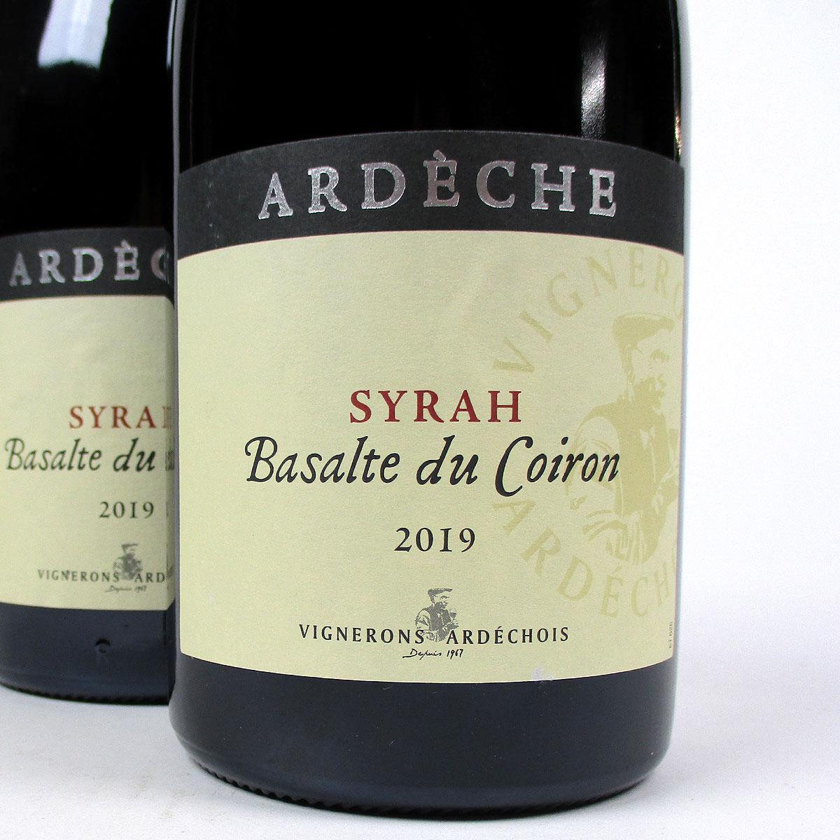 IGP Ardèche: Vignerons Ardéchois Syrah 'Basalte du Coiron' 2019