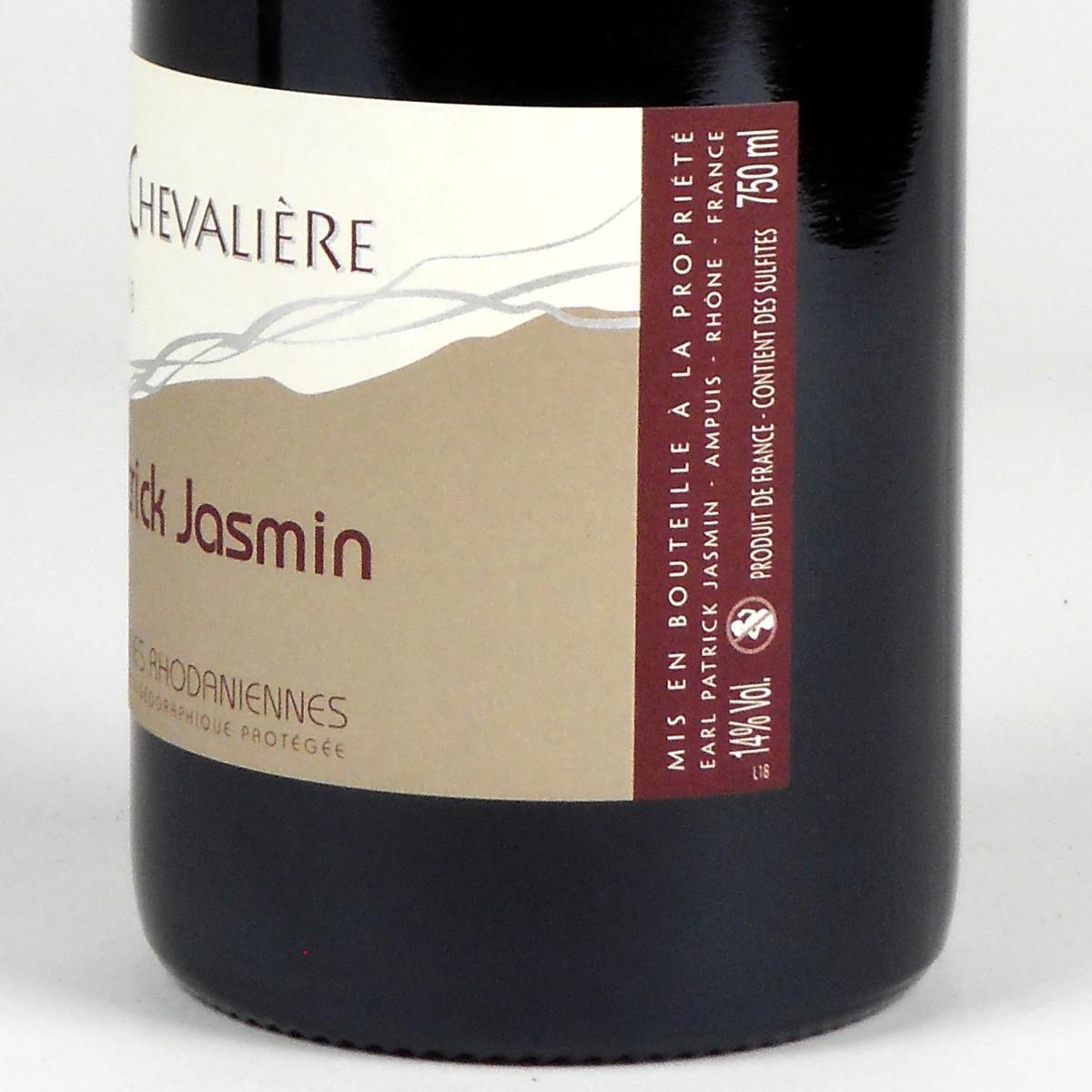 IGP Collines Rhodaniennes: Patrick Jasmin 'La Chevalière' 2018 - Bottle Side Label