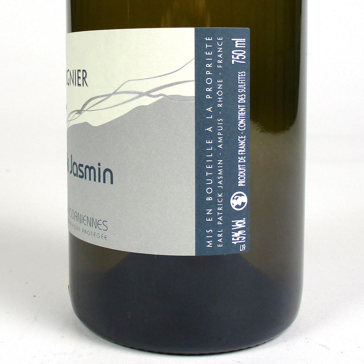 IGP Collines Rhodaniennes: Patrick Jasmin Viognier 2019 - Bottle Side Label