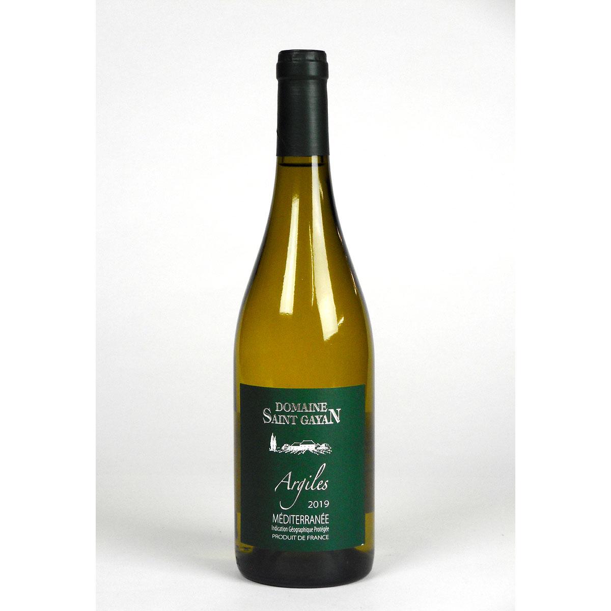 IGP Méditerranée: Domaine Saint Gayan 'Argiles' Blanc 2019 - Bottle