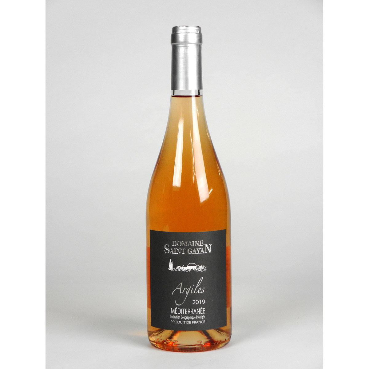 IGP Méditerranée: Domaine Saint Gayan 'Argiles' Rosé 2019 - Bottle