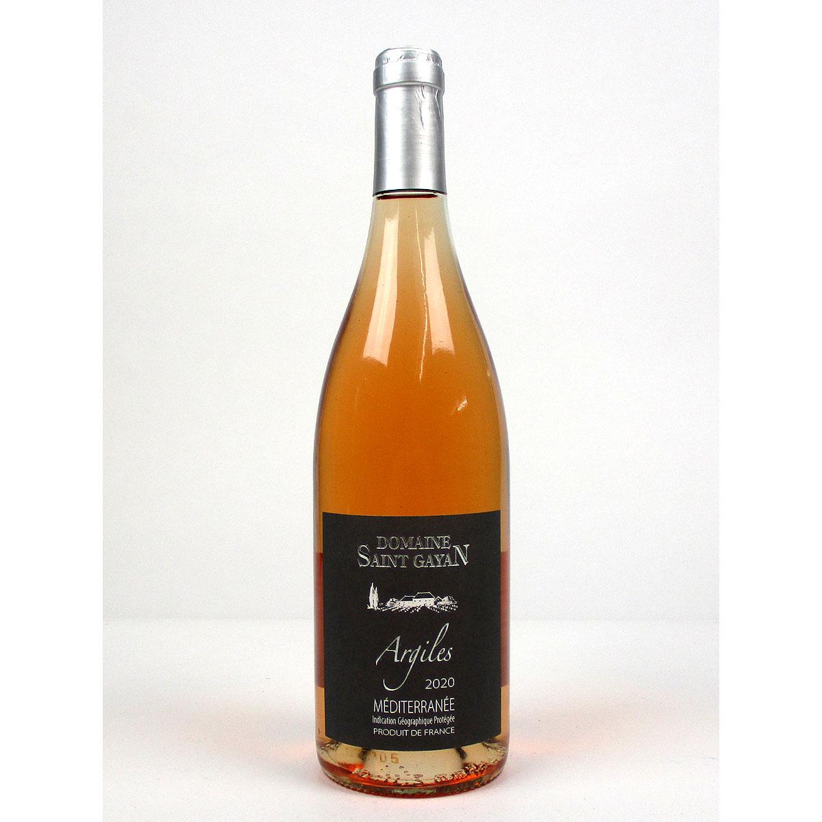 IGP Méditerranée: Domaine Saint Gayan 'Argiles' Rosé 2020 - Bottle