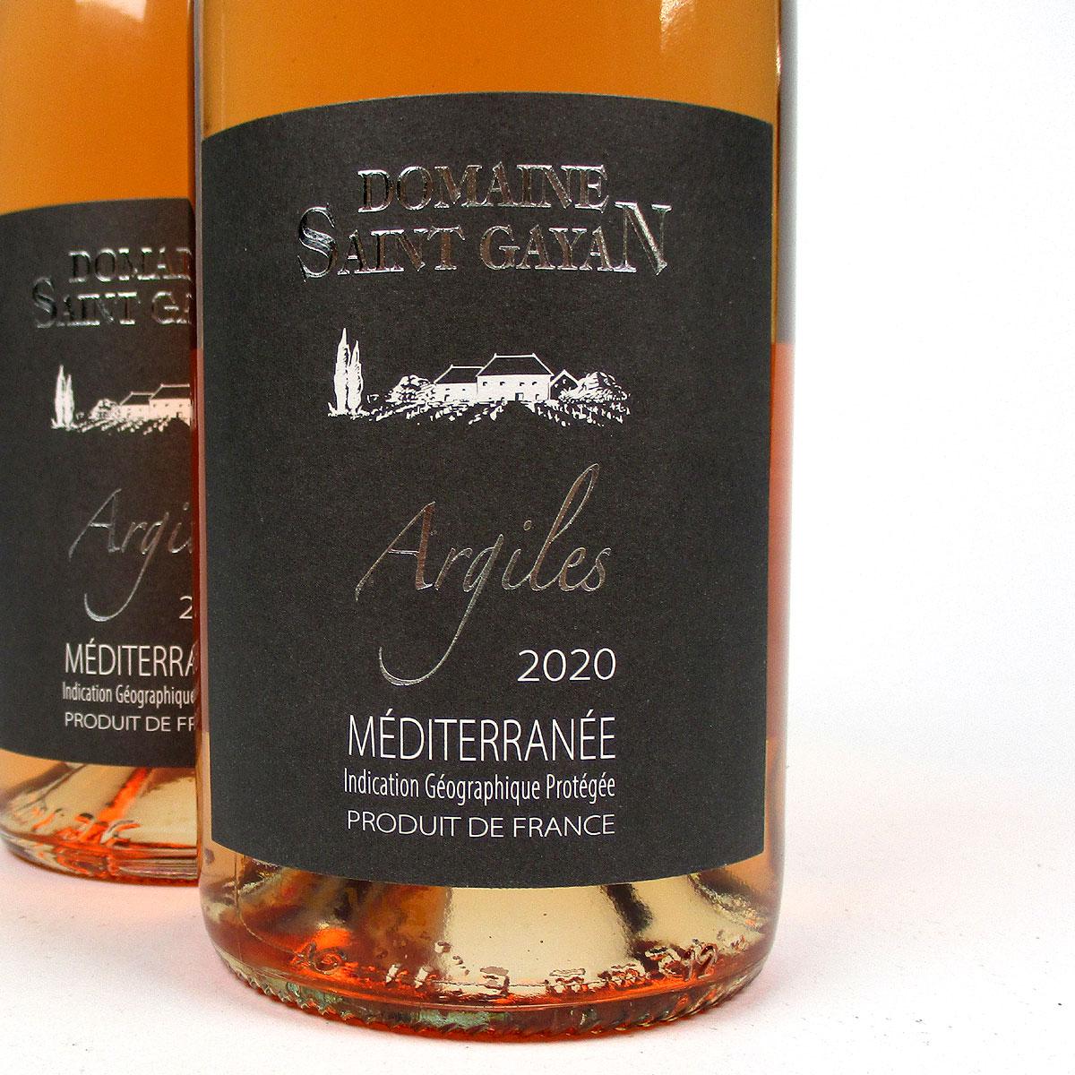IGP Méditerranée: Domaine Saint Gayan 'Argiles' Rosé 2020