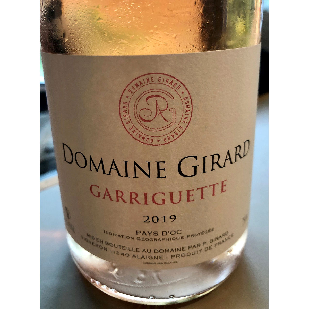 IGP Pays d'Oc: Domaine Girard 'Garriguette' Rosé 2019 - Lifestyle