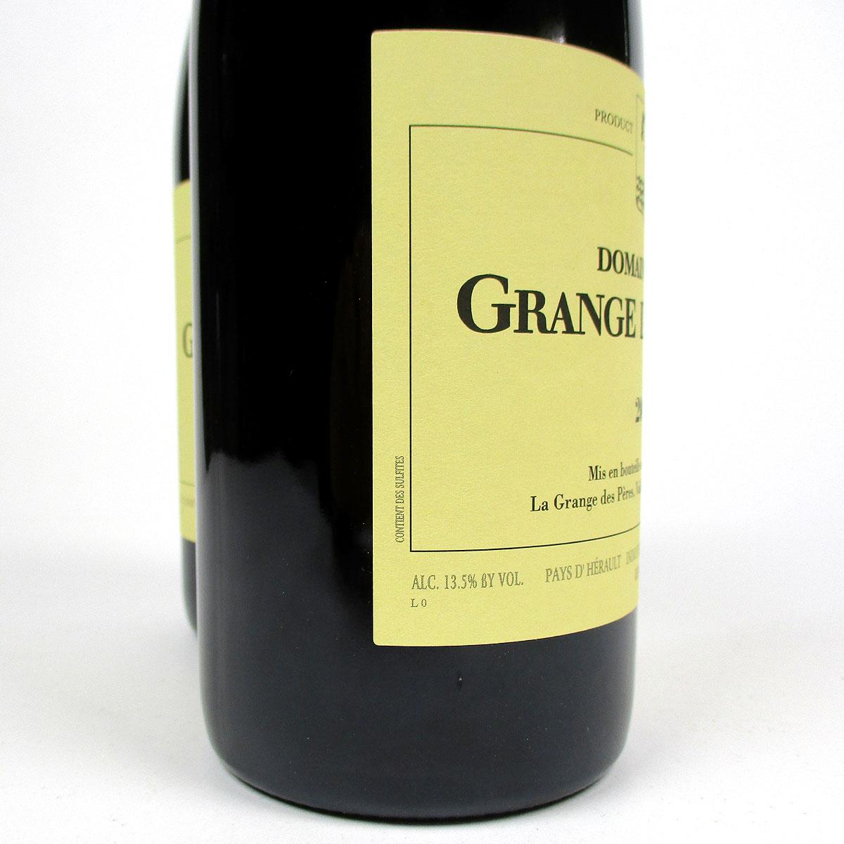 IGP Vin de Pays de l'Hérault: Domaine de La Grange des Pères 2015 - Bottle Label Side