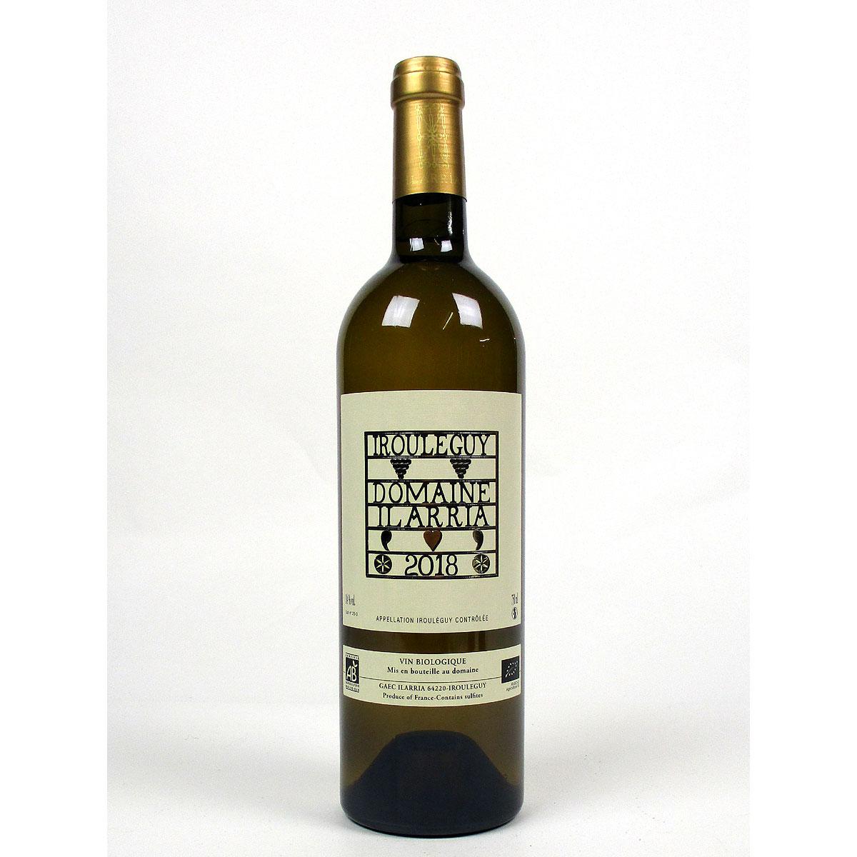 Irouléguy: Domaine Ilarria Blanc 2018 - Bottle