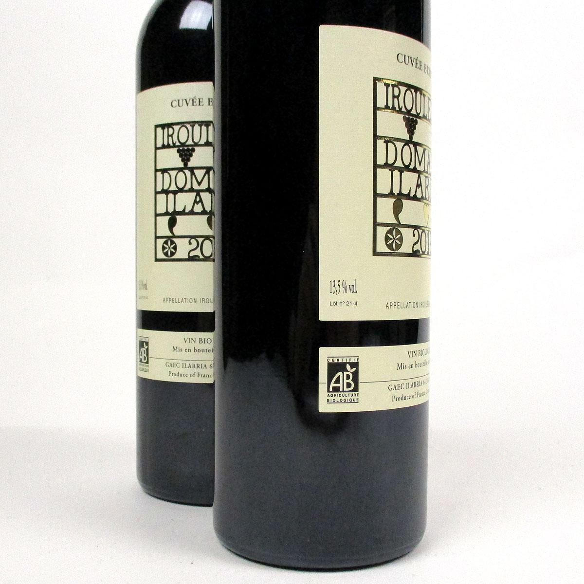 Irouléguy: Domaine Ilarria 'Cuvée Bixintxo' Rouge 2019  - Bottle Side Label ABV