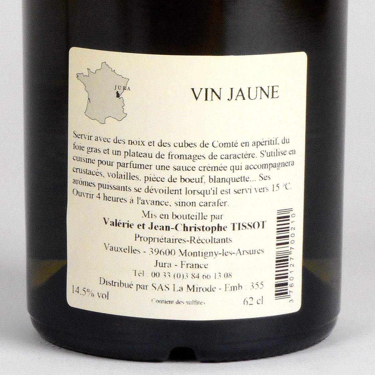 Jura Arbois: Vin Jaune Domaine Jean-Louis Tissot 2013 - Bottle Rear Label