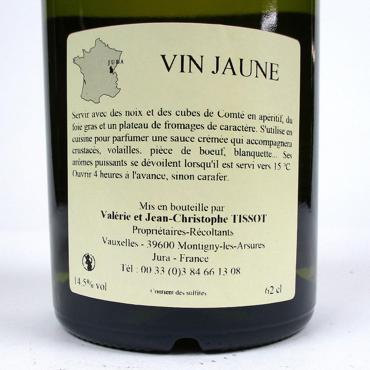 Jura Arbois: Vin Jaune Domaine Jean-Louis Tissot 2014 - Bottle Rear Label