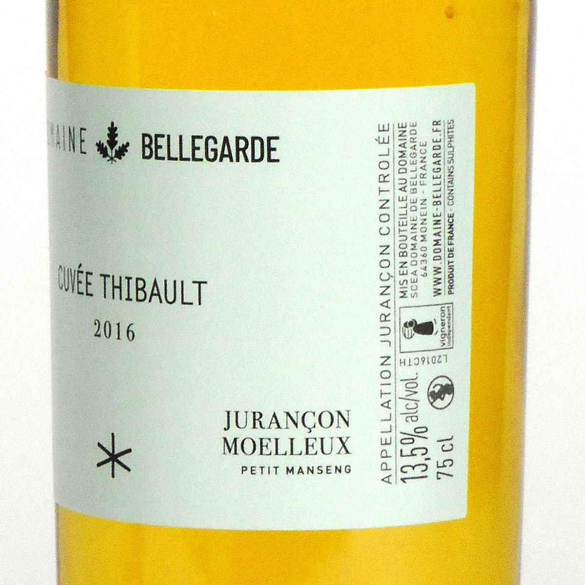 Jurançon Moelleux: Domaine Bellegarde 'Cuveé Thibault' 2016 - Wine Bottle Side