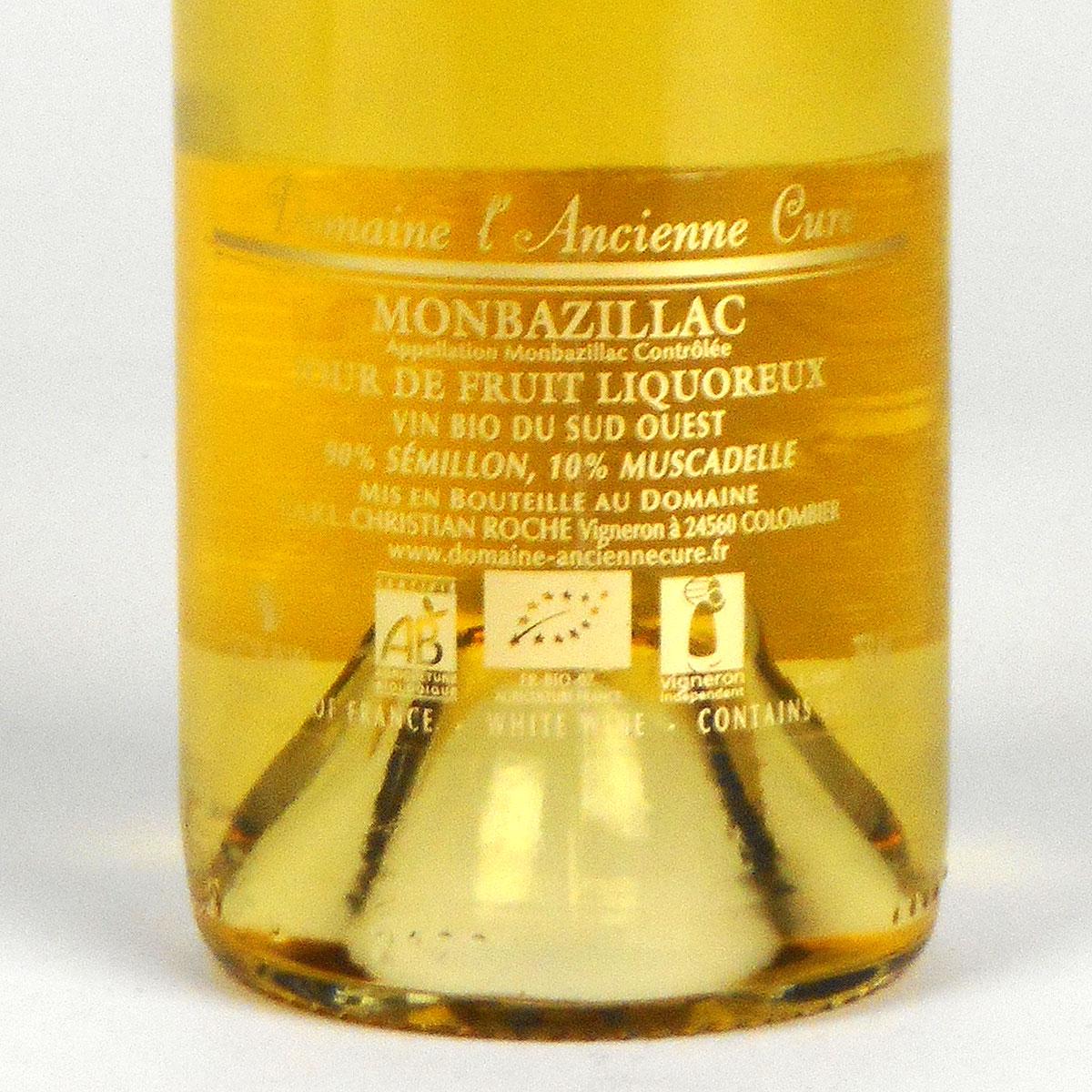 Monbazillac: Domaine de l'Ancienne Cure 2018 - Bottle Rear Label