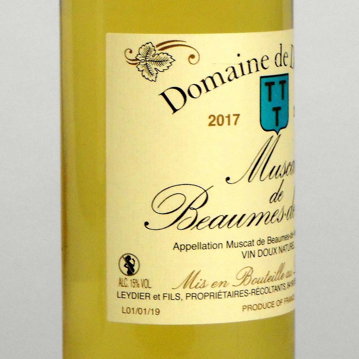 Muscat de Beaumes de Venise: Domaine de Durban 2017 - Bottle Side Label