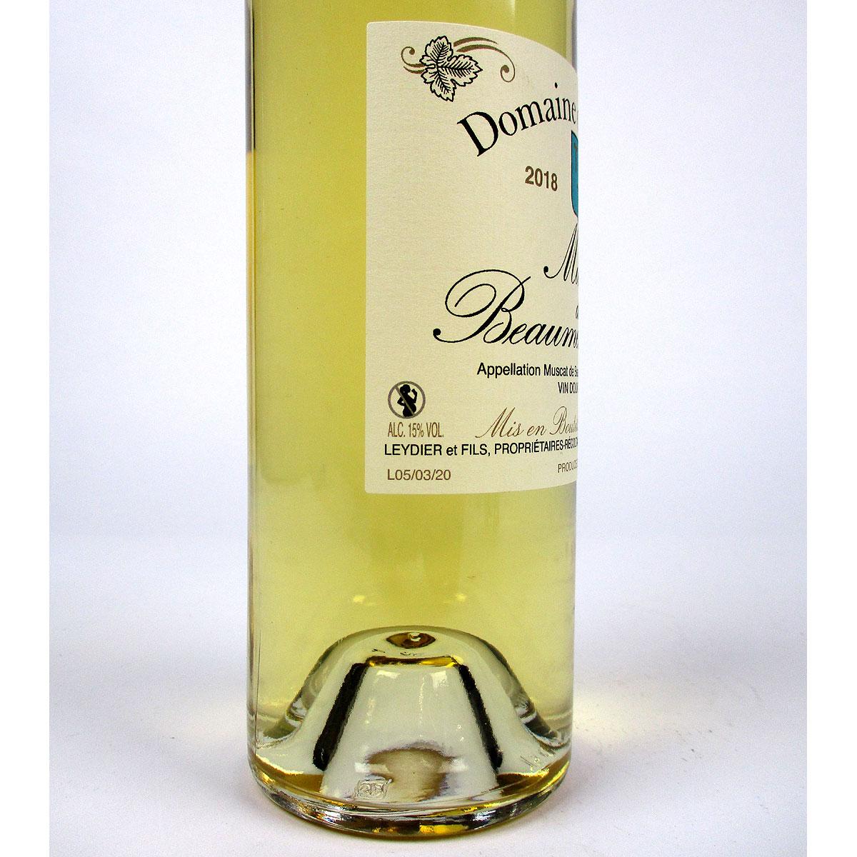 Muscat de Beaumes de Venise: Domaine de Durban 2018 - Bottle Label Side