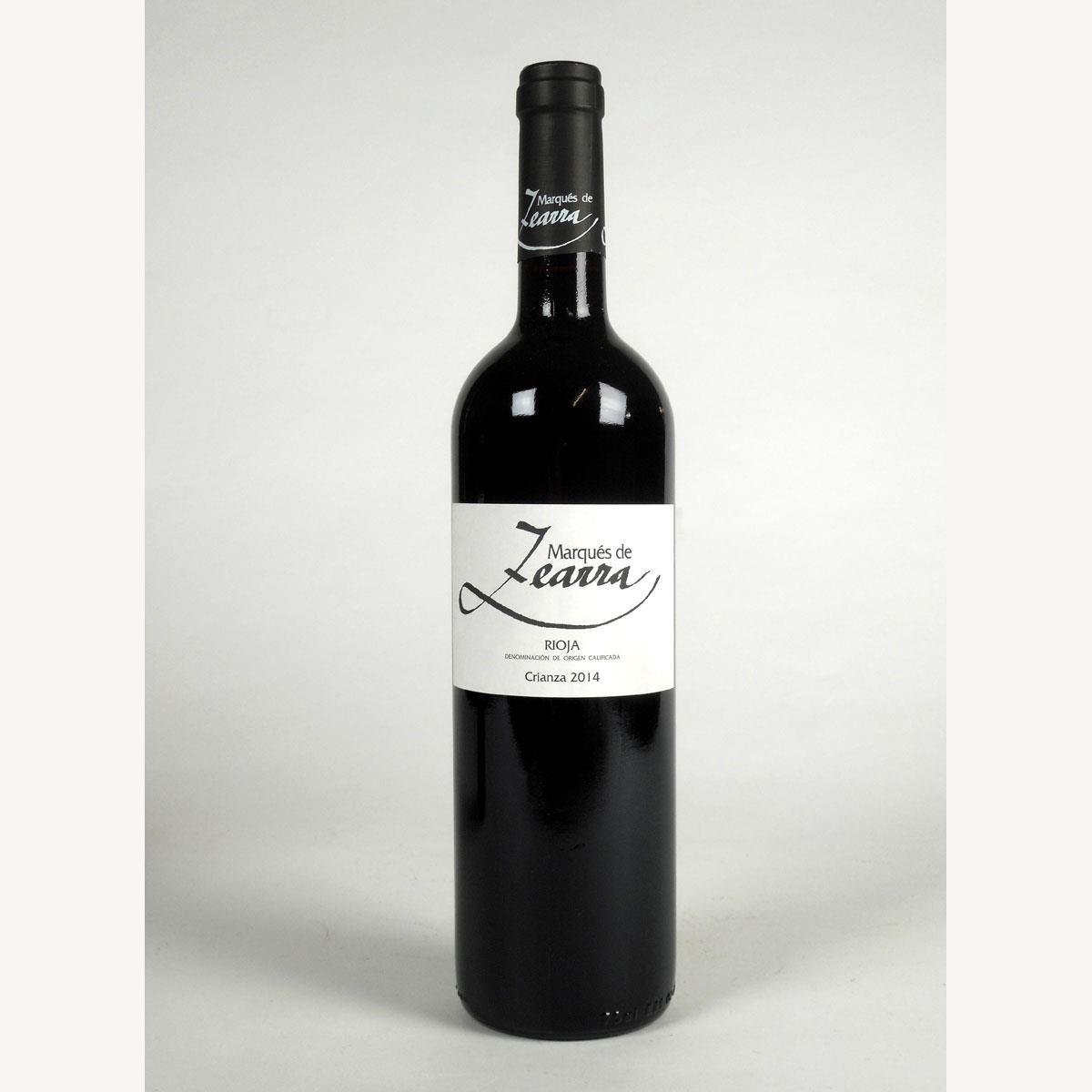 Rioja: Marqués de Zearra Crianza 2014 - Bottle