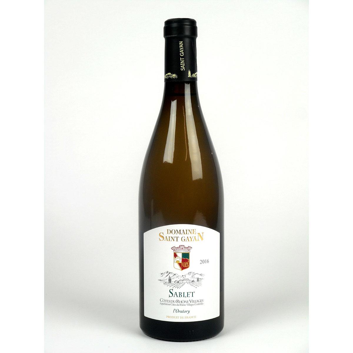 Côtes du Rhône Villages Sablet: Domaine Saint Gayan 2016 - Bottle
