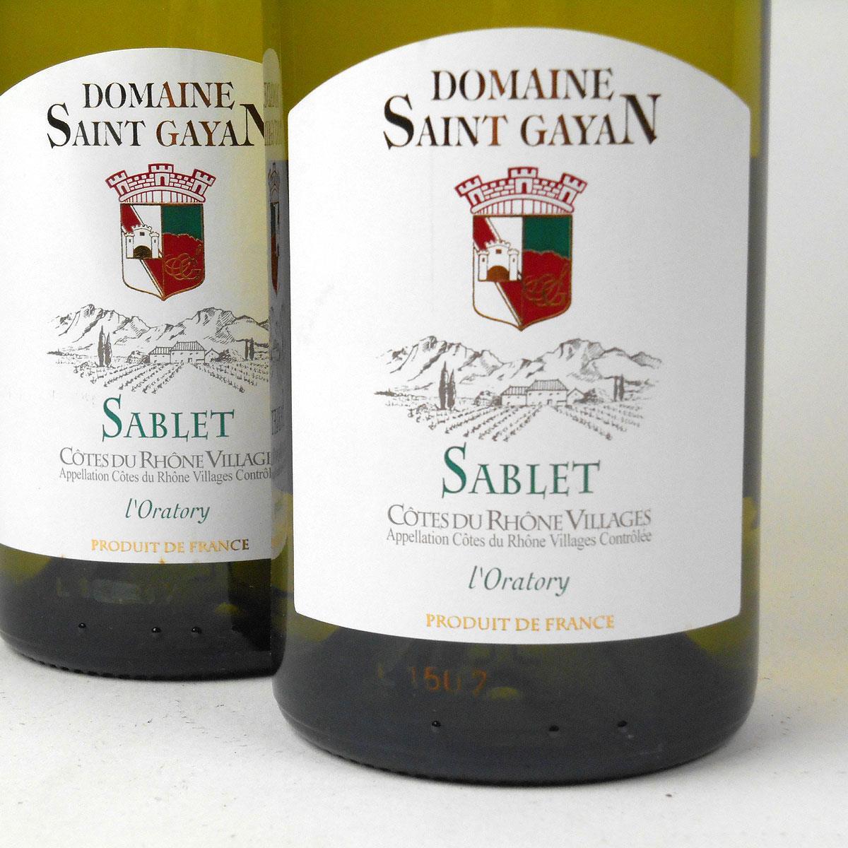 Côtes du Rhône Villages Sablet: Domaine Saint Gayan 2016