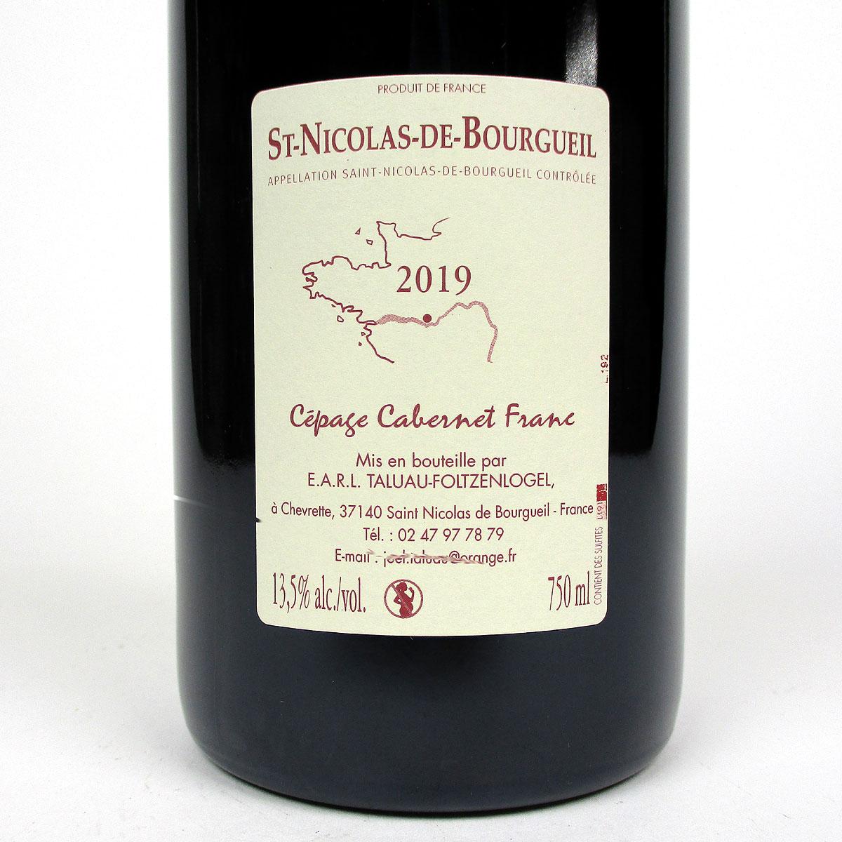 Saint-Nicolas-de-Bourgueil: Domaine Taluau - Foltzenlogel 'l'Expression' 2019 - Bottle Rear Label