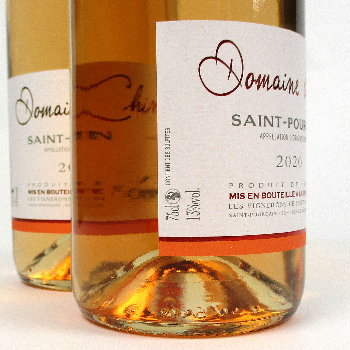 Saint-Pourçain: Domaine de Chinière Rosé 2020 - Bottle Side Label