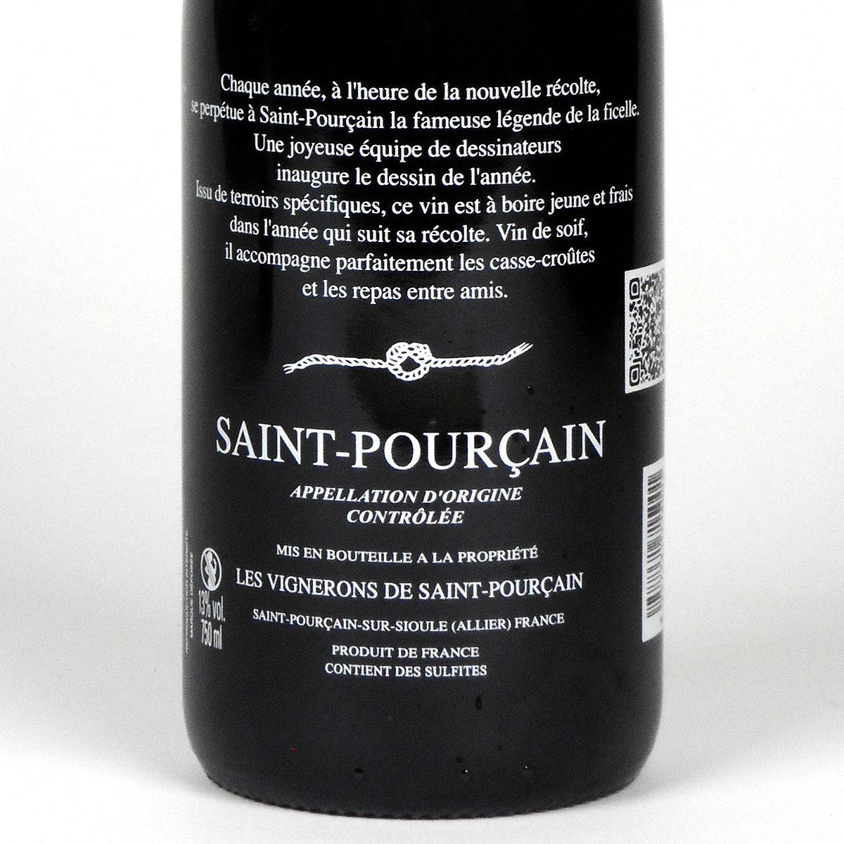 Saint-Pourçain: 'La Ficelle' Rouge 2019 - Rear Label