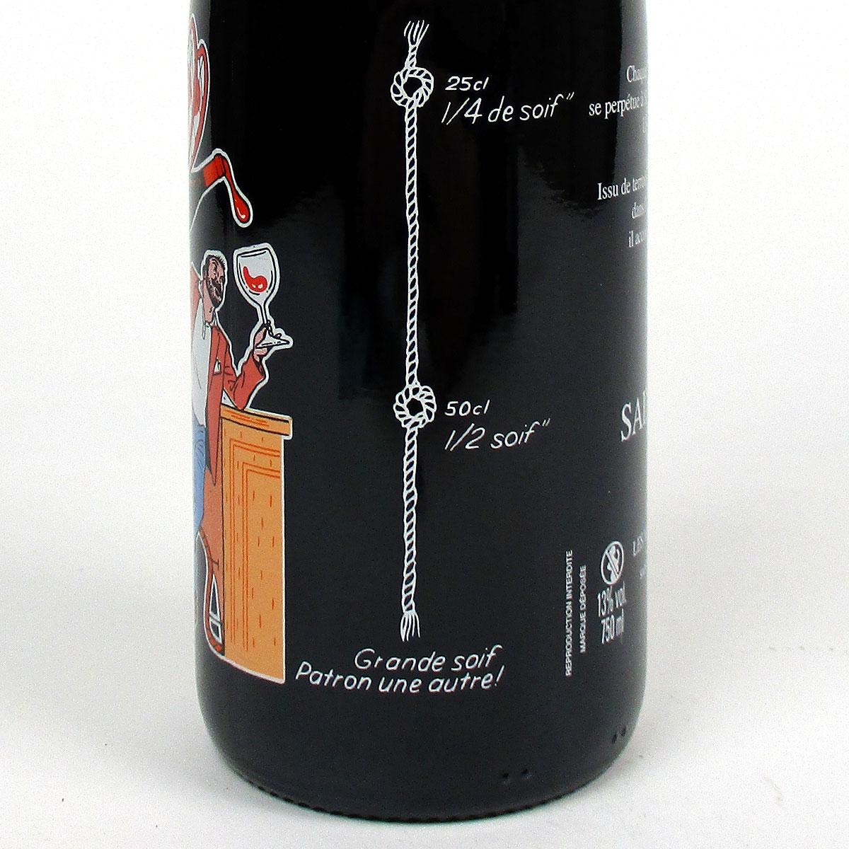 Saint-Pourçain: 'La Ficelle' Rouge 2020 - Bottle Side Label