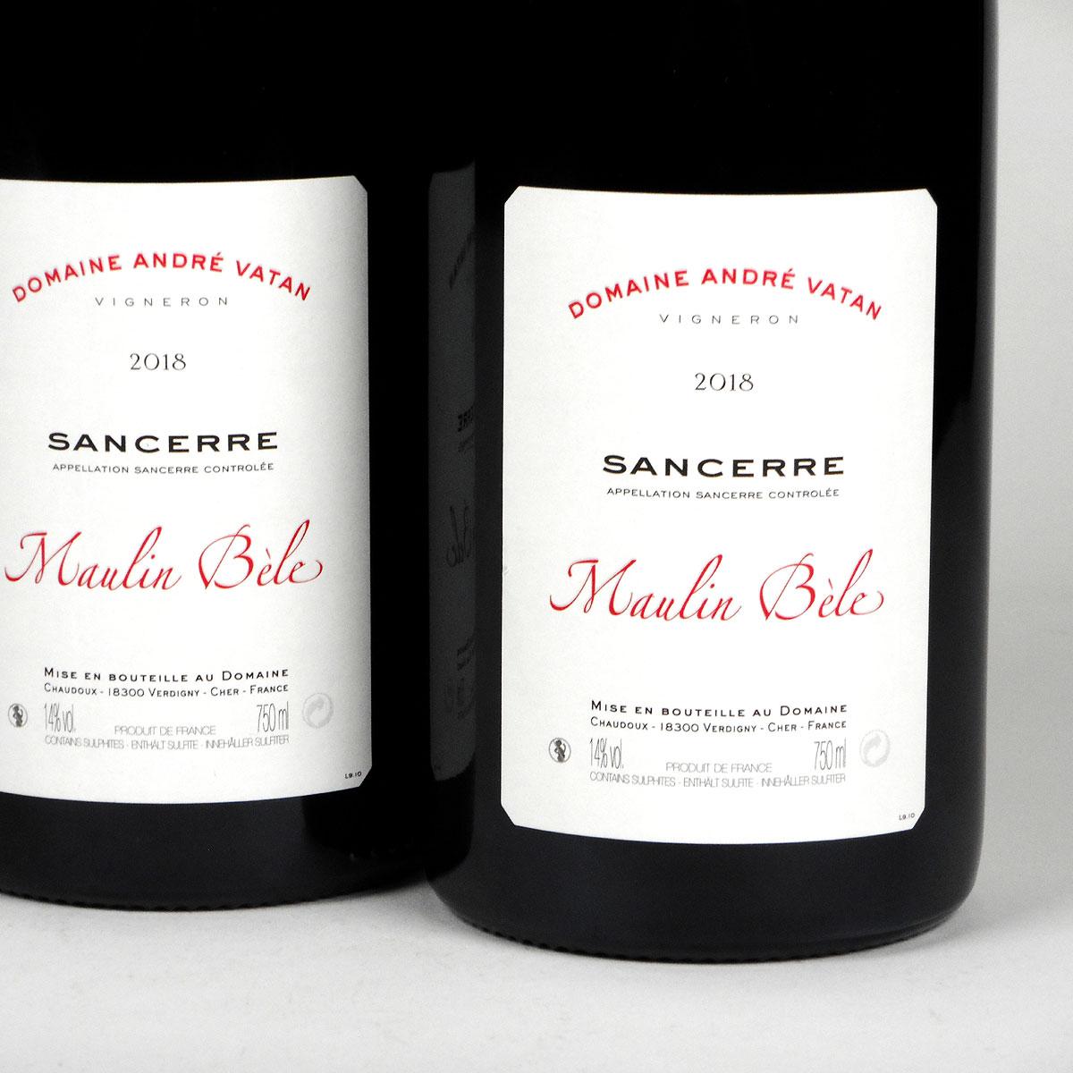 Sancerre: Domaine André Vatan 'Maulin Bèle' Rouge 2018 - Bottle