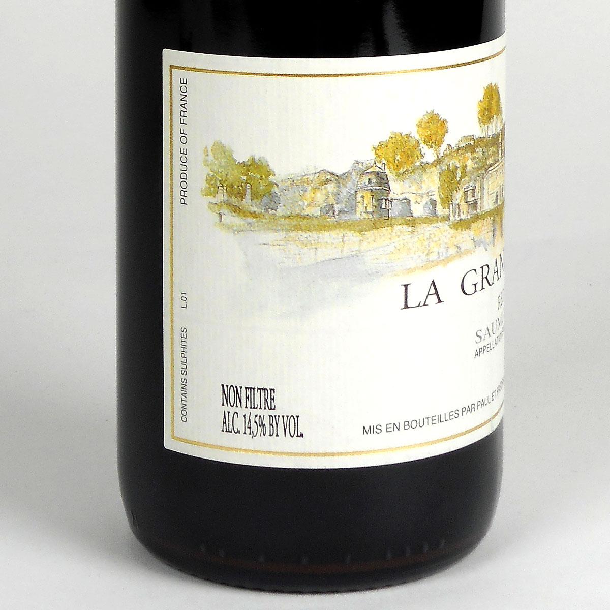 Saumur Champigny: Domaine Filliatreau 'La Grande Vignolle' 2019 - Bottle Side Label