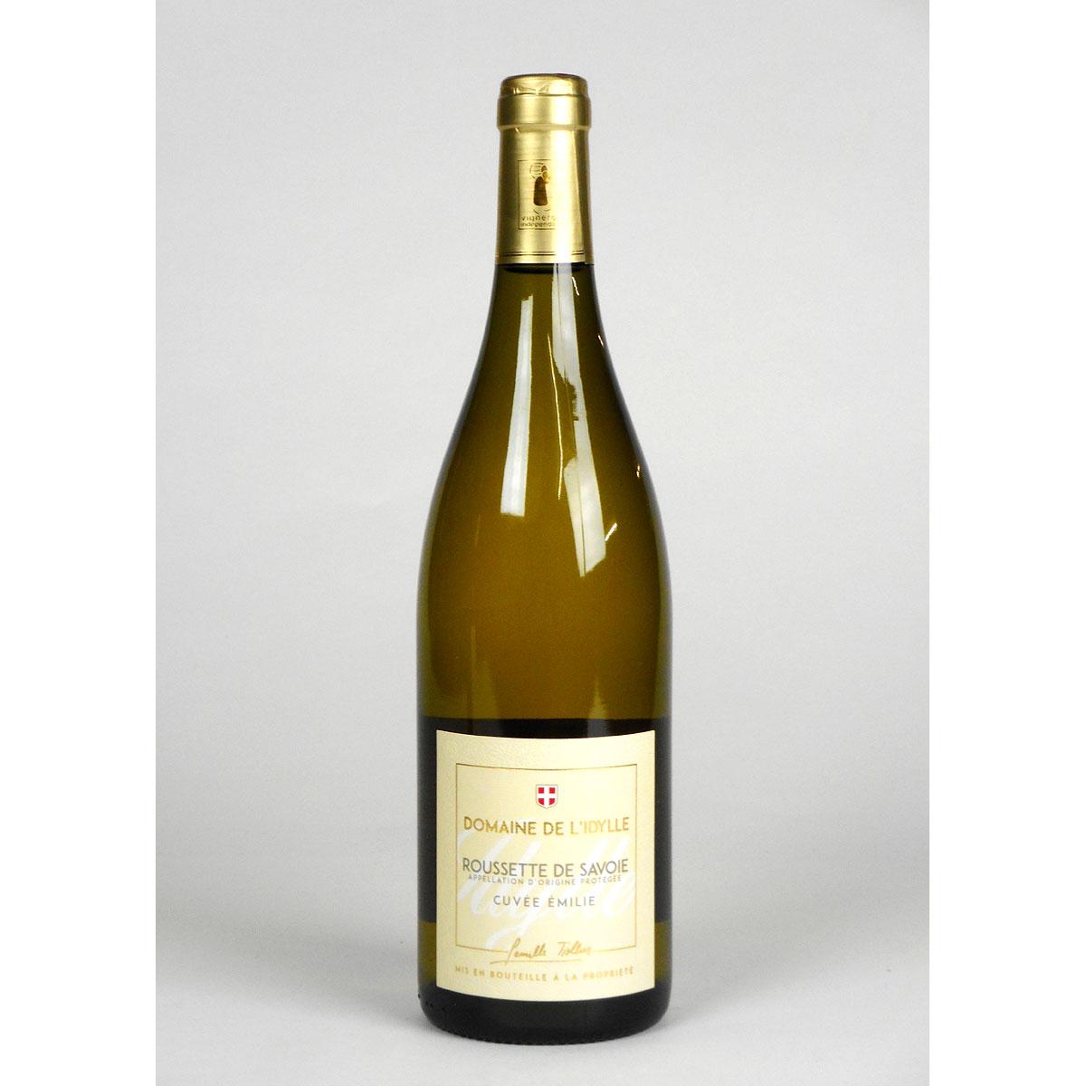 Savoie: Domaine de L'Idylle 'Cuvée Emilie' Roussette 2018 - Bottle