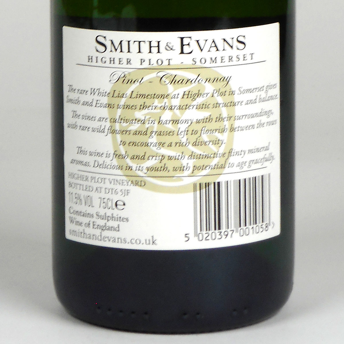 Smith and Evans: Pinot Chardonnay 2015 - WIne Bottle Rear Label