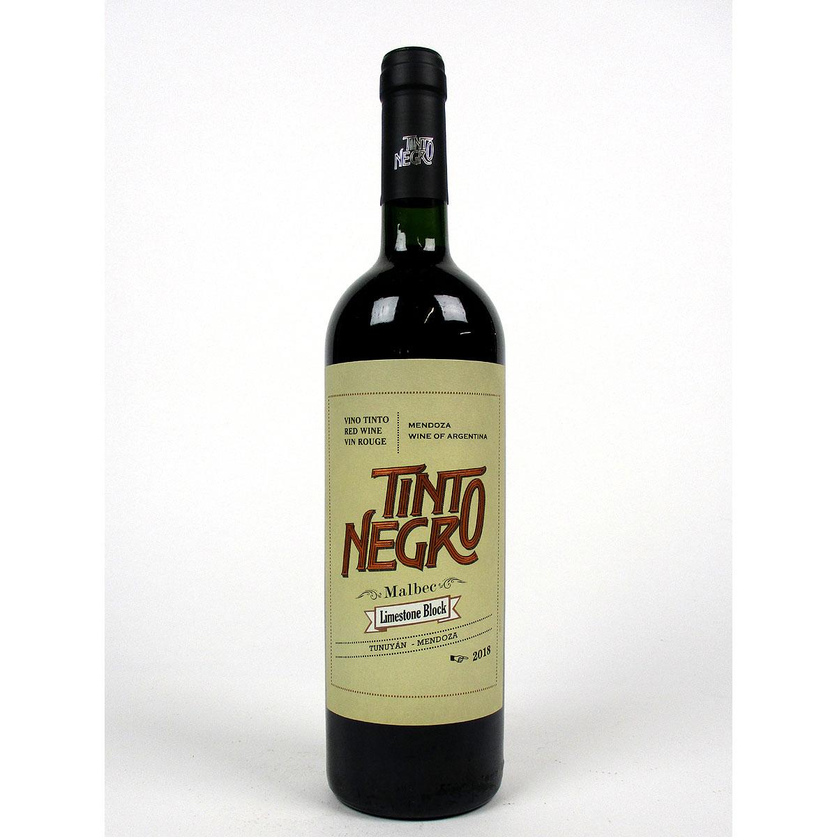 Tinto Negro: Uco Valley Malbec Cabernet Franc 'Limestone Block' 2018 - Bottle
