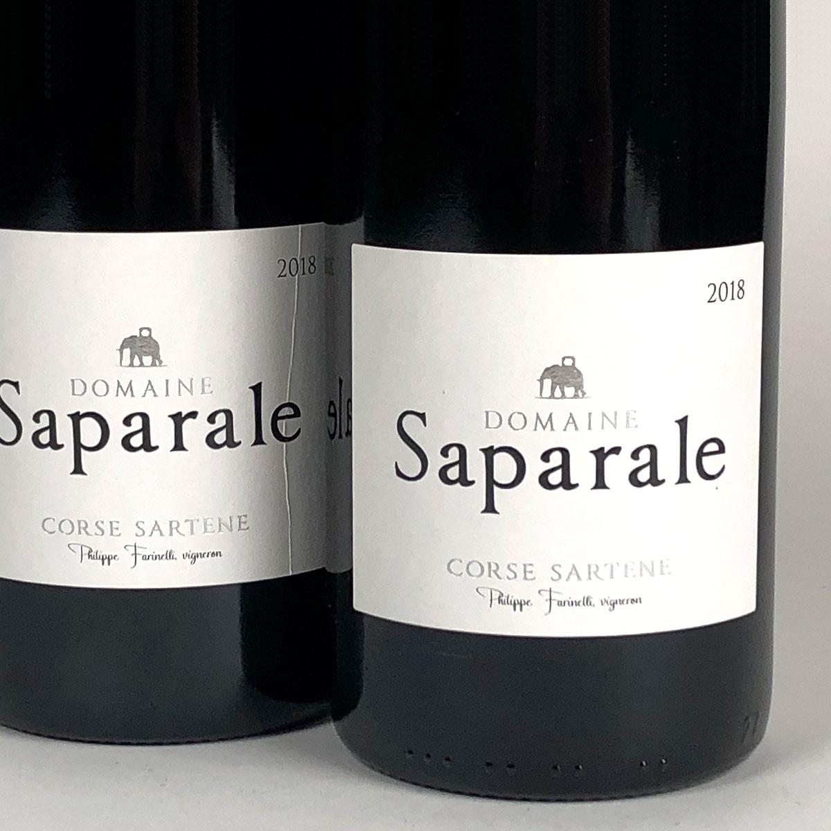 Vin de Corse Sartène Rouge: Domaine Saparale 2018