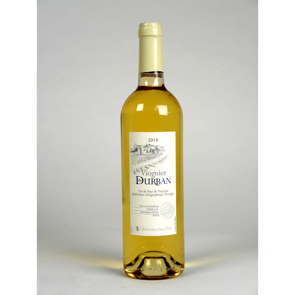 Vin de Pays de Vaucluse: Domaine de Durban Viognier 2018 - Bottle